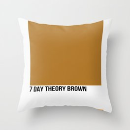 7 DAY THEORY BROWN Throw Pillow