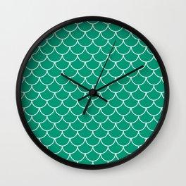 Emerald Scales Wall Clock