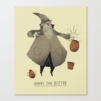 potter Canvas Prints featuring the potter. by Louis Roskosch