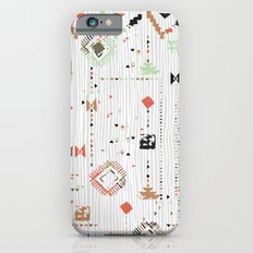 Print with stripes and lines, abstract shapes and dots Slim Case iPhone 6s