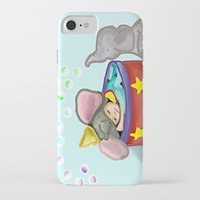 baby elephant iPhone & iPod Cases featuring Baby Elephant  by grapeloverarts