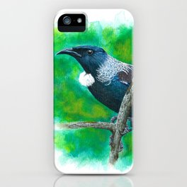 New Zealand Tui - Painting in acrylic iPhone Case