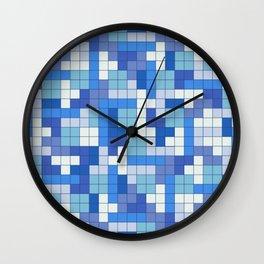 Tetris Camouflage Marine Wall Clock