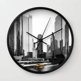 Yellow Boat Wall Clock
