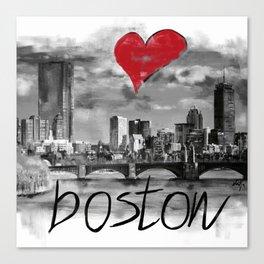 I love Boston Canvas Print