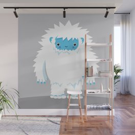 Kids Room Yeti – Illustration for the sleeping room of girls and boys Wall Mural