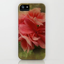 Pink Geranium at Barthel's Farm Market iPhone Case