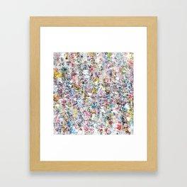 Overlapping Conversations Framed Art Print