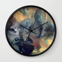 Abstract Floral Swirl Wall Clock