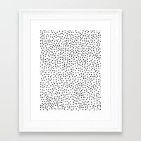 dots Framed Art Prints featuring Dots.. by Priscila Peress