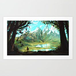 zelda breath of the wild Art Print