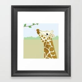 Chin Up Giraffe Framed Art Print