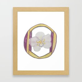 O is for Orchid Framed Art Print