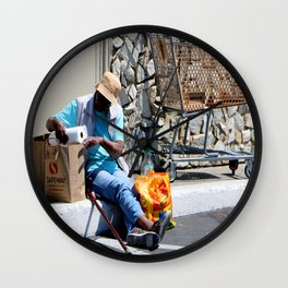 Dining Out - No Reservation Wall Clock