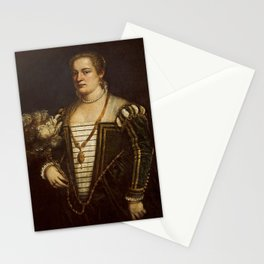 Titian - Portrait of the Artist's daughter Lavinia Stationery Cards