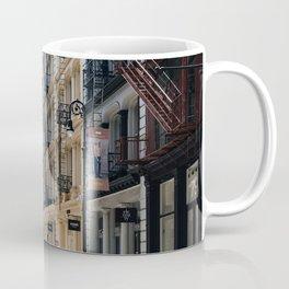 Typical street in Soho in New York Coffee Mug