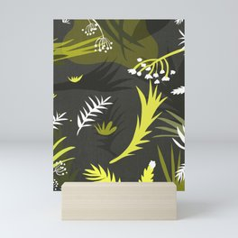 Scandinavian pattern with flowers Mini Art Print