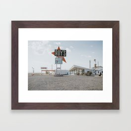 Roys Motel and Cafe | Route 66 Framed Art Print