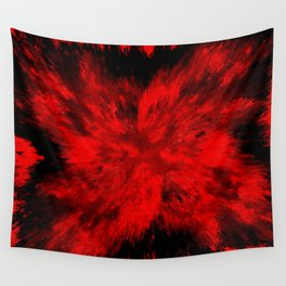 Fire Behind Glass (Red series #11) Wall Tapestry