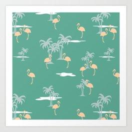 Coral Sands (green) Art Print