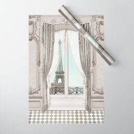 Eiffel Tower room with a view Wrapping Paper