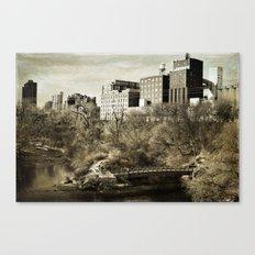 Vintage City Park Canvas Print