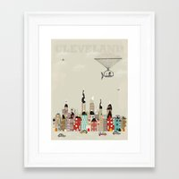cleveland Framed Art Prints featuring visit cleveland ohio by bri.buckley