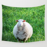 sheep Wall Tapestries featuring Sheep by L'Accent Nou by Anastasia Egorova