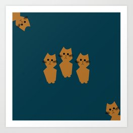 Curious Cats Art Print