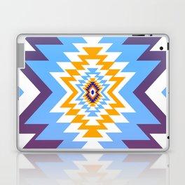 Bright blue native pattern Laptop & iPad Skin