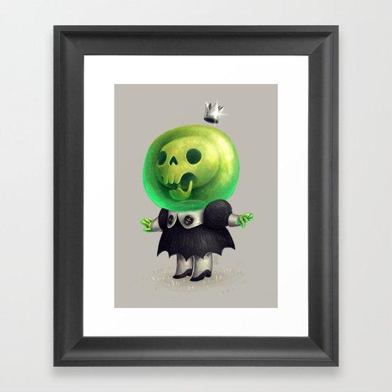 Slime Princess Framed Art Print
