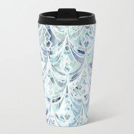 Ice and Diamonds Art Deco Pattern Travel Mug