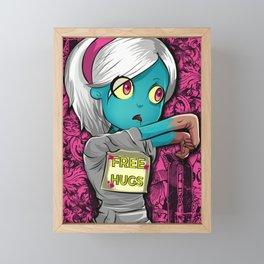 Free Hugs Walking Dead Zombie Girl Framed Mini Art Print