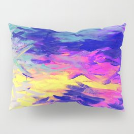 Neon Mimosa Inspired Painting Pillow Sham