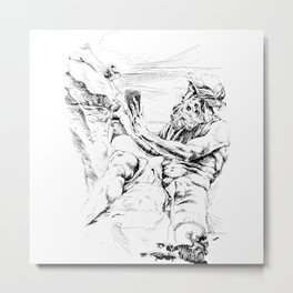 Neptune Sculpture from piazza Navona Roma Metal Print