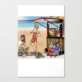 Summer girls Canvas Print