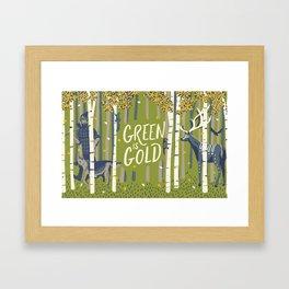 Graft - Green is Gold Framed Art Print