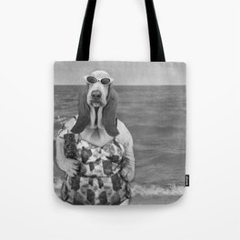 Basset Hound Beach Party Tote Bag
