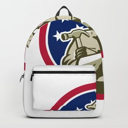 American Carpenter USA Flag Icon Backpack