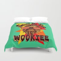 chewbacca Duvet Covers featuring Show Me Your Wookiee!  |  Chewbacca  by Silvio Ledbetter
