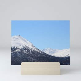 Blue Sky and Snowy Mountain Top 2 Mini Art Print