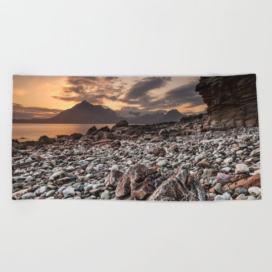 Beach lac Ecosse 4 Beach Towel