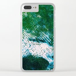 Hummingbird Abstract Painting Clear iPhone Case