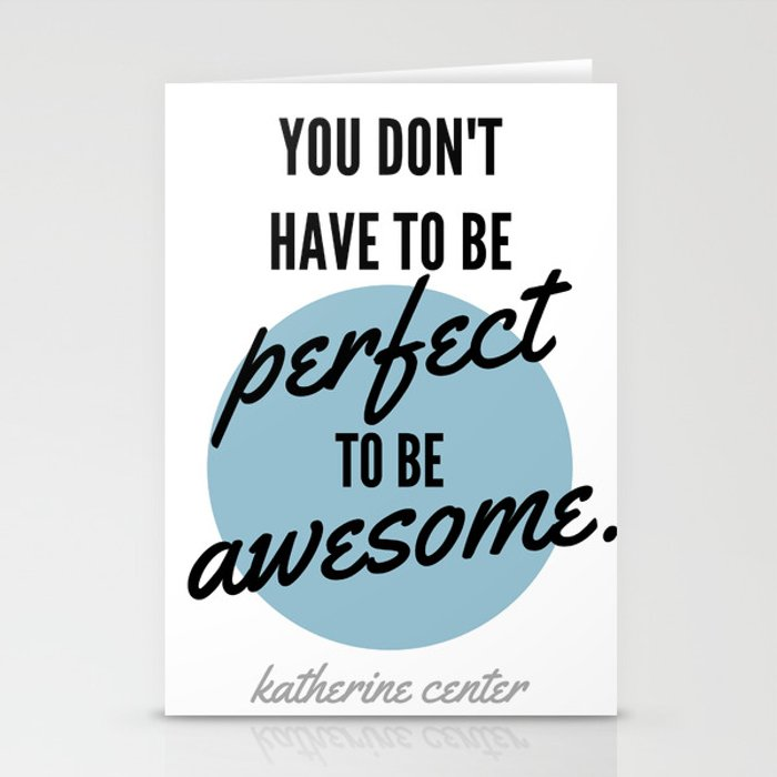 PERFECT IS OVERRATED Stationery Cards