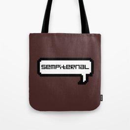 Sempiternal - Maroon Tote Bag