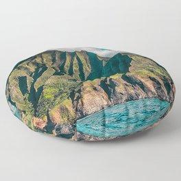 Na' Pali Coast, Kauai, Hawaii Floor Pillow