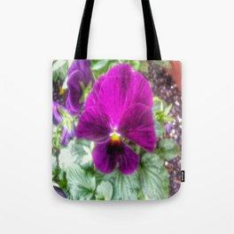 Violet Violas Tote Bag