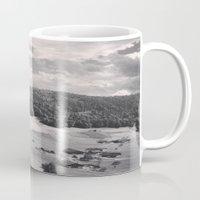 switzerland Mugs featuring Switzerland BW by Heather Hartley