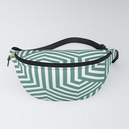 Viridian - green - Minimal Vector Seamless Pattern Fanny Pack