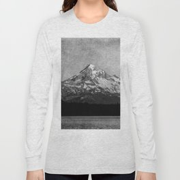 Mt Hood Black and White Vintage Nature Photography Long Sleeve T-shirt